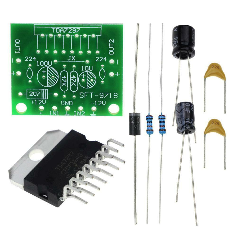 TDA7297 Amplifier Board DIY 15W+15W DC 12V Dual-Channel Audio Stereo Module - eElectronicParts