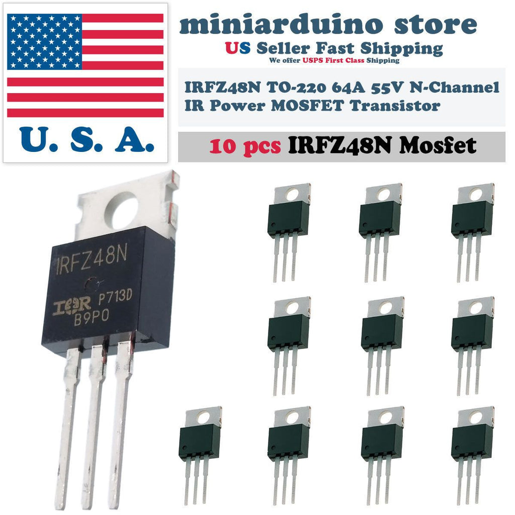 10pcs IRFZ48N IRFZ48 MOSFET Power Transistor Fast Switching HEXFET 64A 55V - eElectronicParts