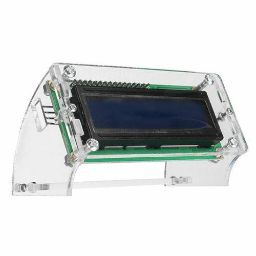 LCD1602 Transparent Acrylic LCD Shell for 2.5'' 1602 yellow/blue Enclosure Case - eElectronicParts