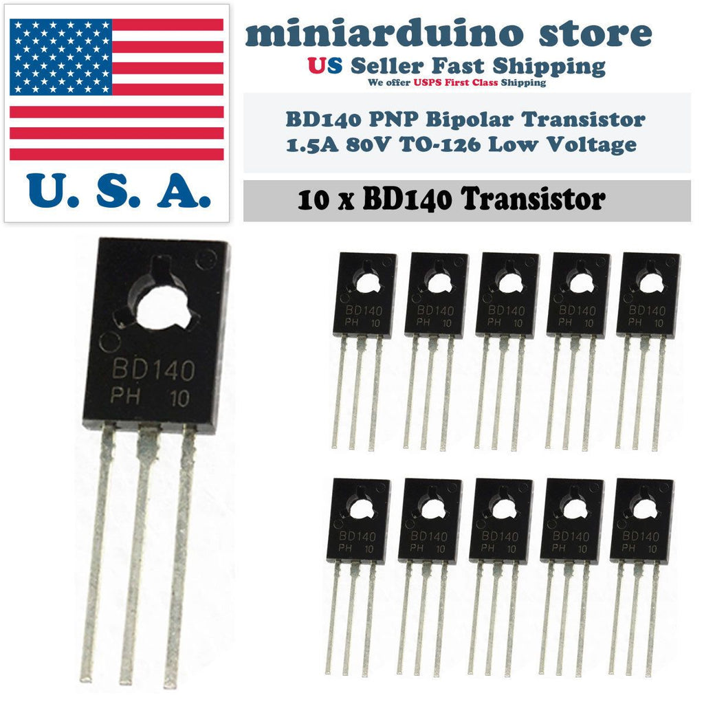 10pcs BD140 TO-126 Silicon PNP Transistor Low Voltage 80V 1.5A SOT-32 - eElectronicParts