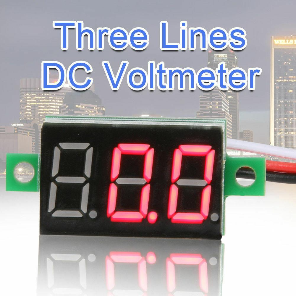 "2pcs 0.36"" RED DC 0-100V 3 Wire LED Digital Display Panel Volt Meter Voltmeter - eElectronicParts"
