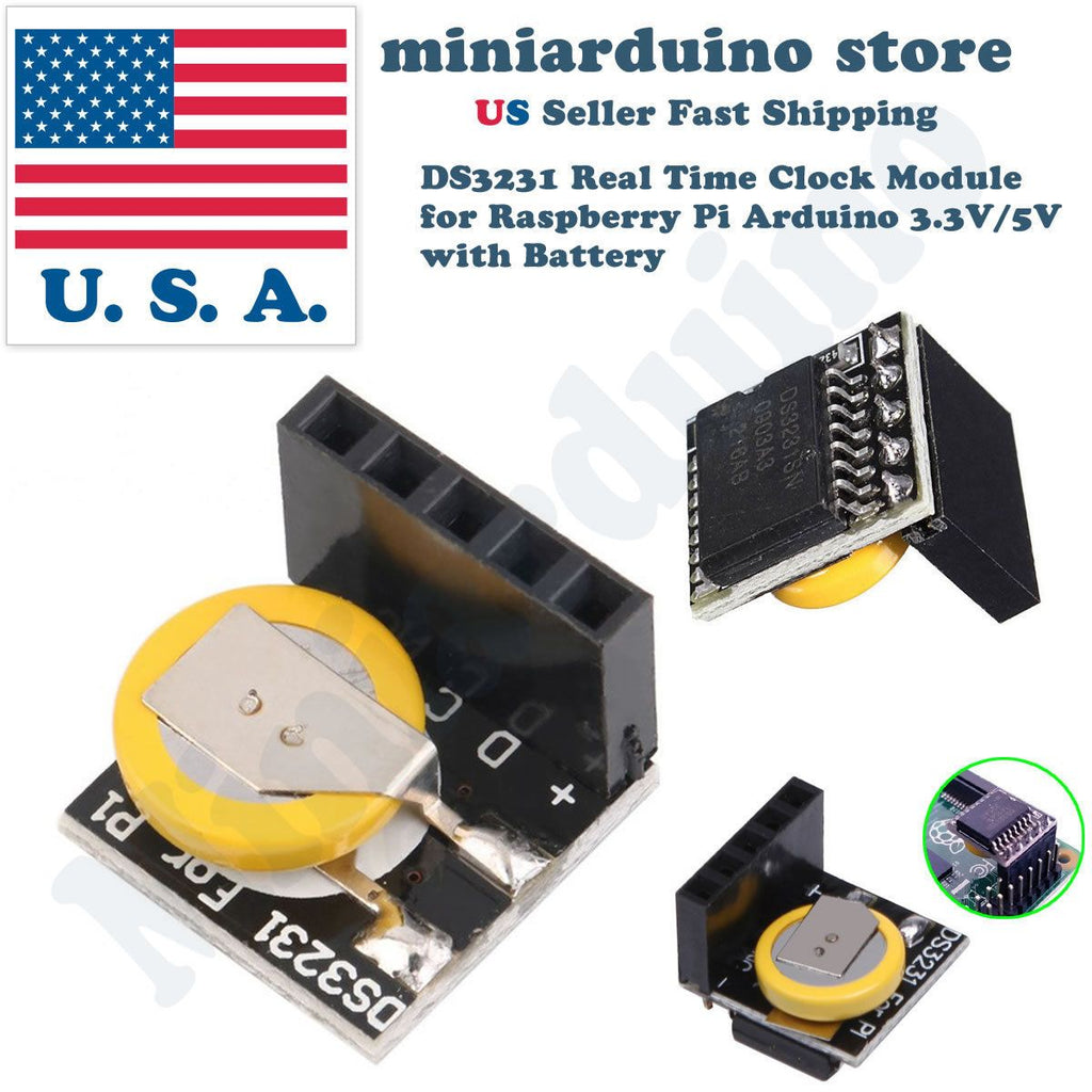 2pcs DS3231 Real Time Clock RTC Module for Raspberry Pi Arduino 3.3V/5V Battery - eElectronicParts