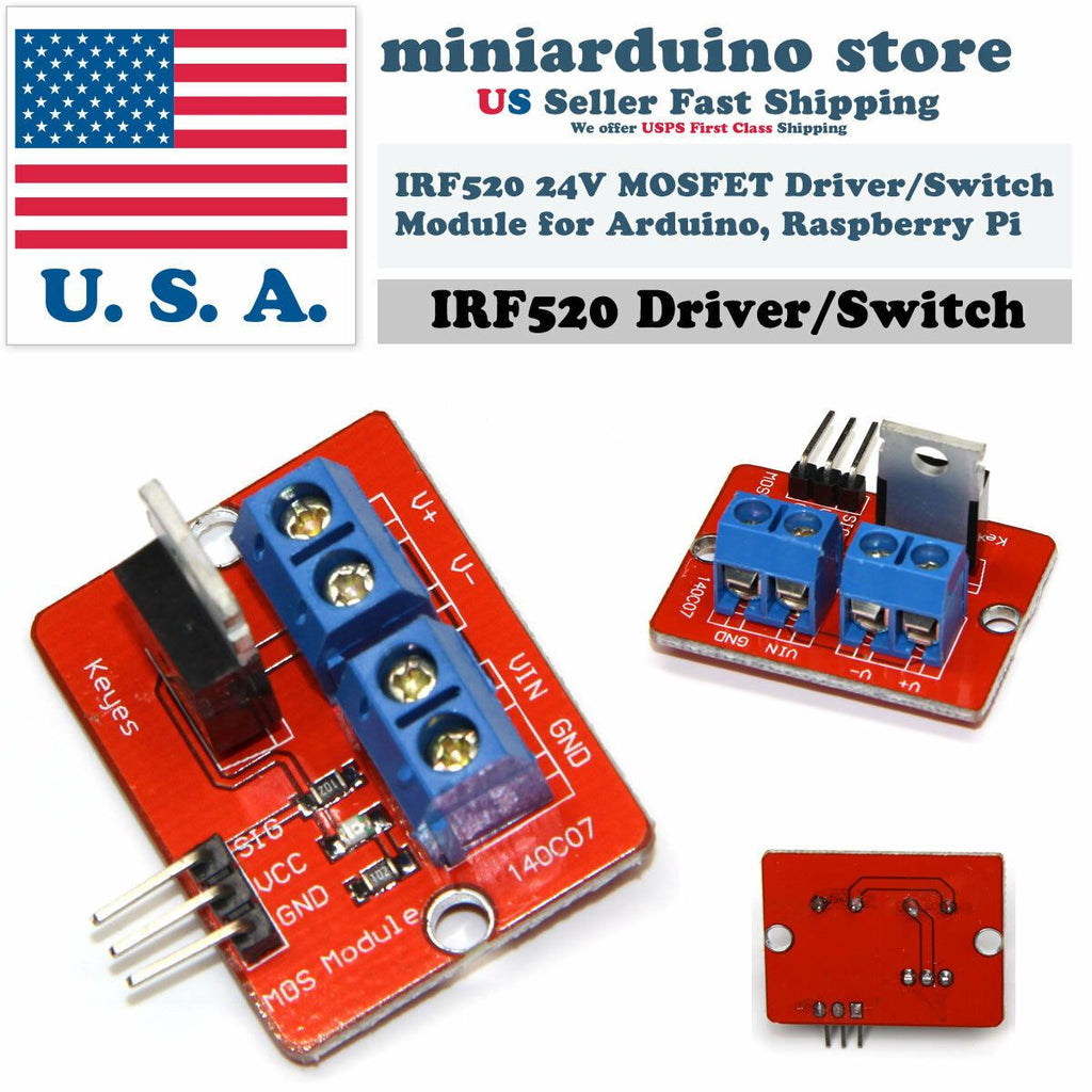 1Pcs IRF520 MOS FET Driver Module for Raspberry pi New Kit New.