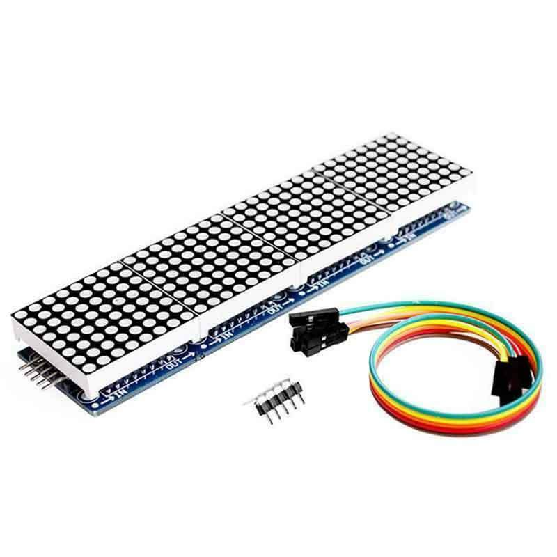 Arduino matrix led display module max7219 5p line 8x32 4 in 1 MCU Raspberry pi - eElectronicParts