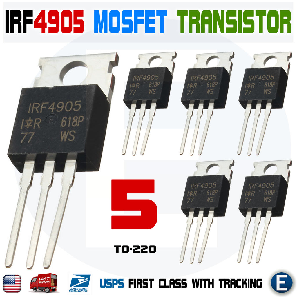5pcs IRF4905 IRF4905PBF MOSFET FET P-Channel 55V 75A 200W Transistor - eElectronicParts