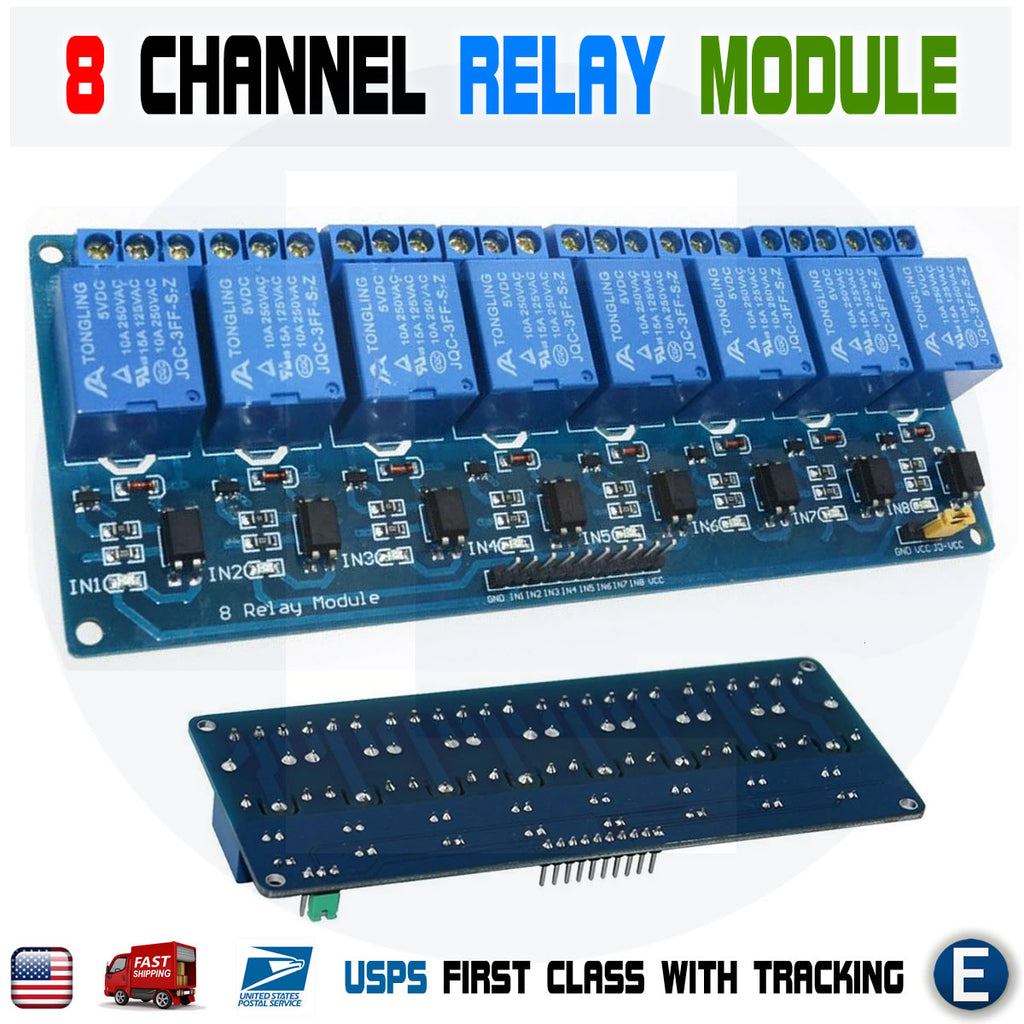 8 Channel 5V Relay Module Optocoupler Relay Output 8 way module for Arduino