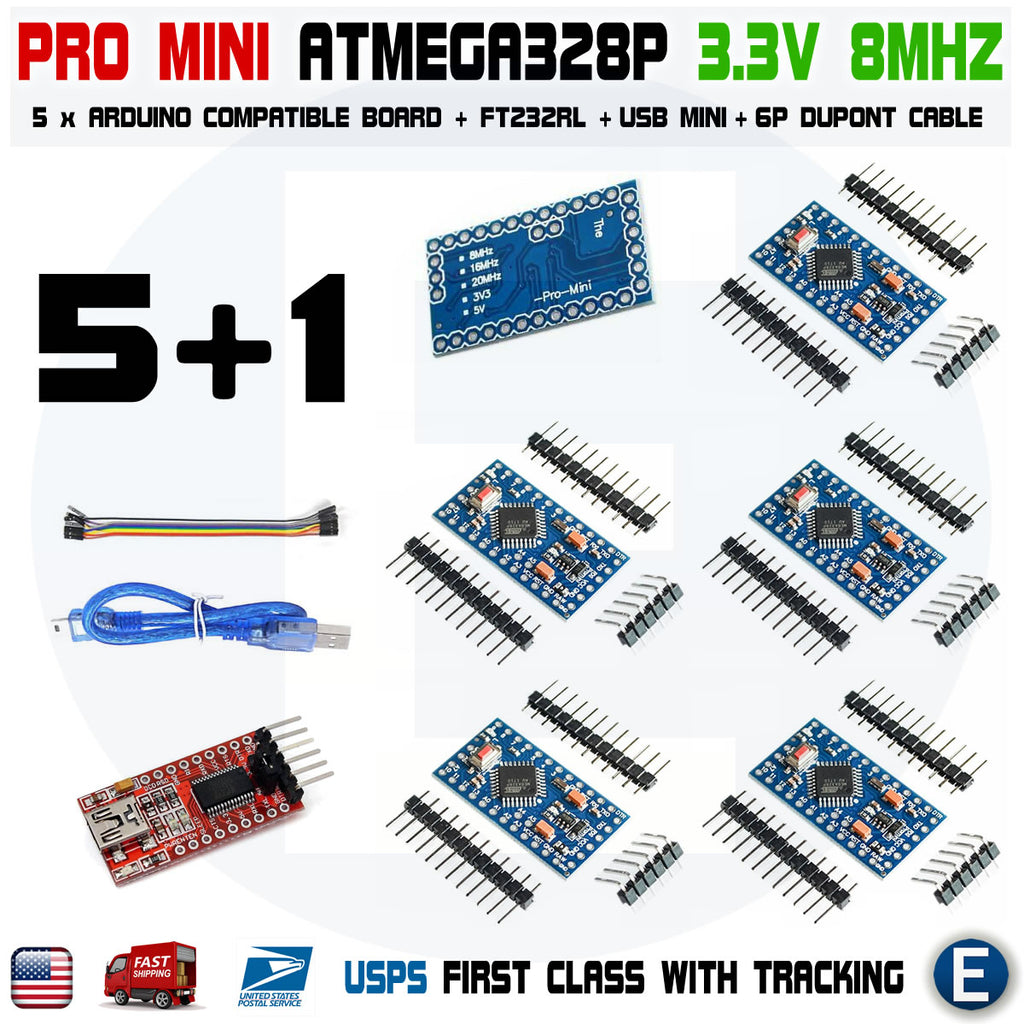 5PCS New Pro Mini atmega328 Board 5V 16M Arduino Compatible Nano