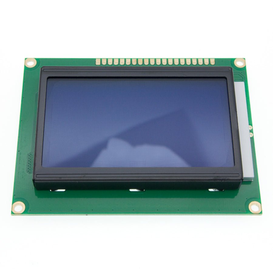 12864 128 x 64 Graphic Symbol Font LCD Display Module Blue Backlight For Arduino - eElectronicParts