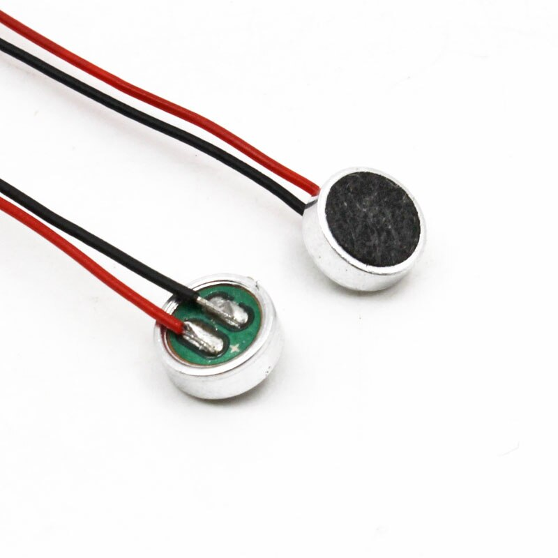 2pcs Mini Acoustic Electret Microphone 6x2.7MM Omnidirectional with leads