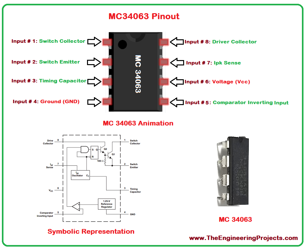 10pcs MC34063 MC34063A 1.5A Step-Up/Down/ Inverting Switching Regulator - eElectronicParts