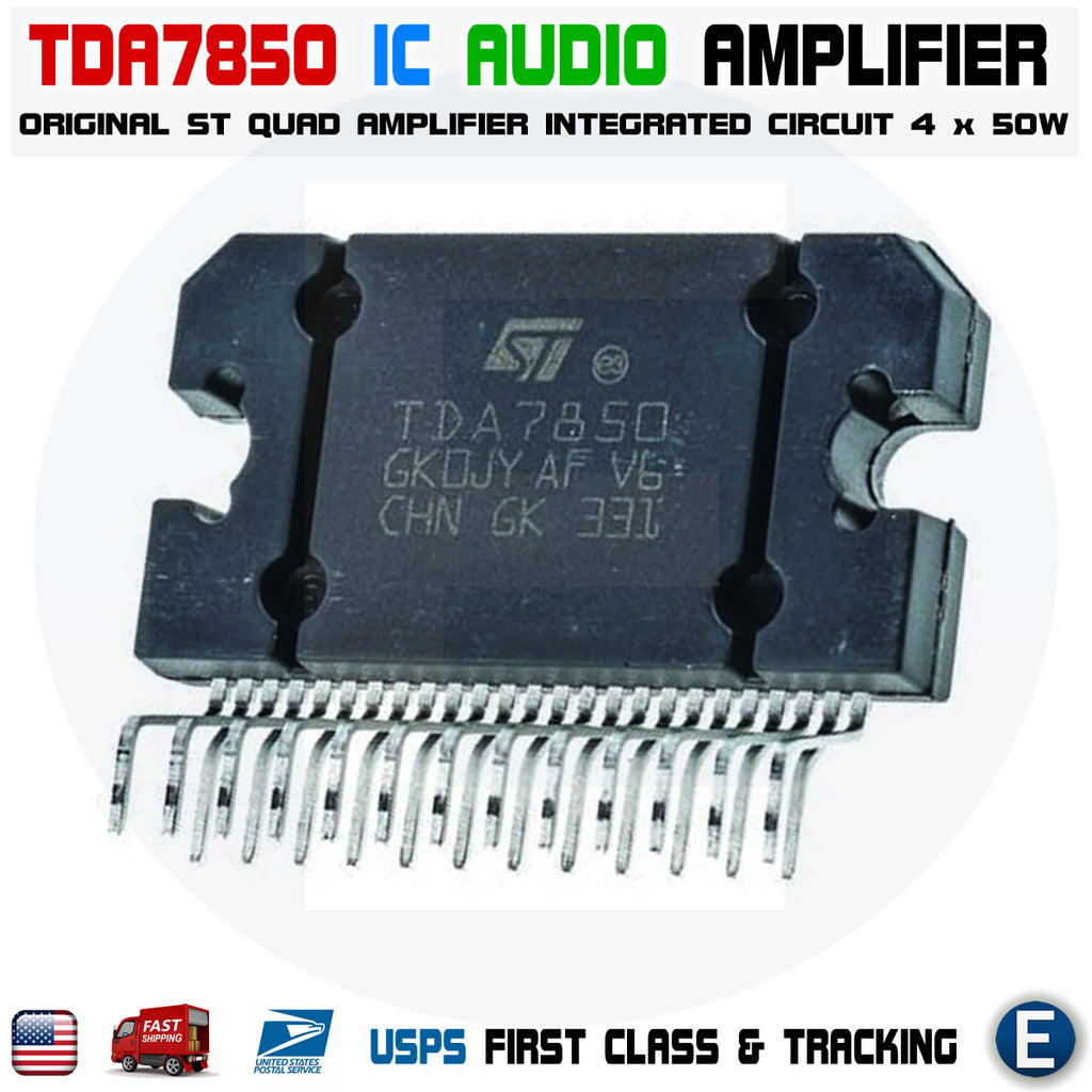 TDA7850 4X50W Mosfet Quad Bridge Power Audio Amplifier Car Original ST 25pin - eElectronicParts