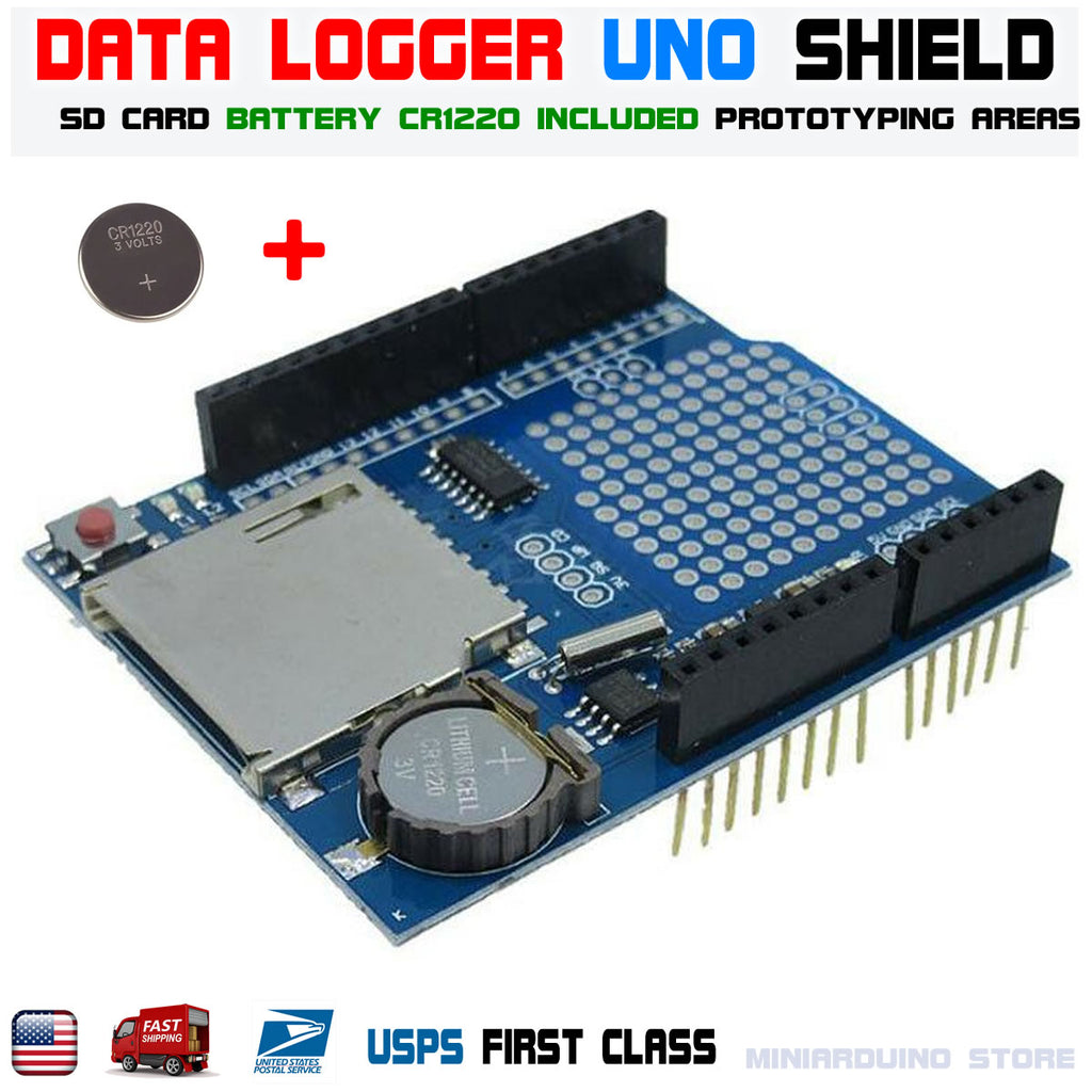 Recorder Data Logger Module Logging Shield XD-05 For Arduino UNO SD Card + Battery