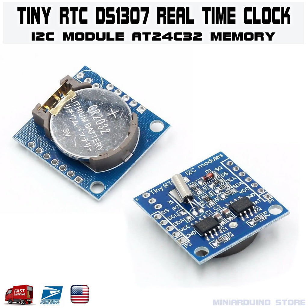 Tiny RTC I2C DS1307 AT24C32 Real Time Clock Module For Arduino AVR PIC 51 ARM - eElectronicParts