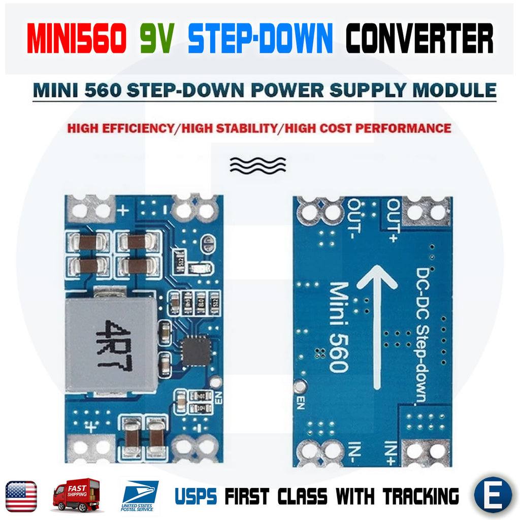 Mini560 Step-Down Stabilized Voltage Power Supply Module DC-DC Output 9V Buck Converter