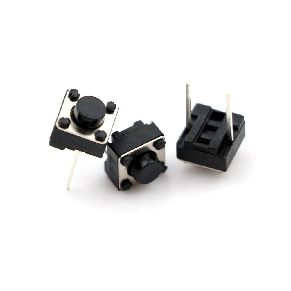 25Pcs 6x6x5mm 2 Pin PCB Momentary Tactile Tact Push Button Switch DIP Micro - eElectronicParts