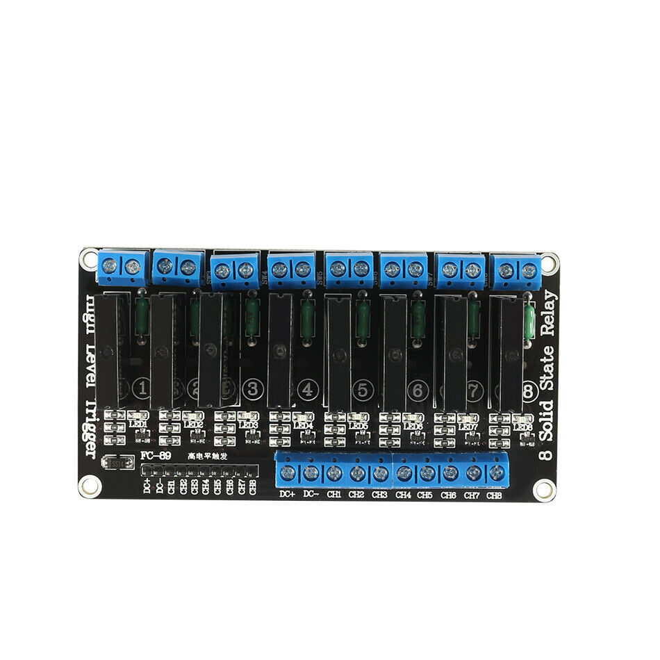 8 Channel 5V DC Relay Module Solid State High Level SSR AVR DSP For Arduino