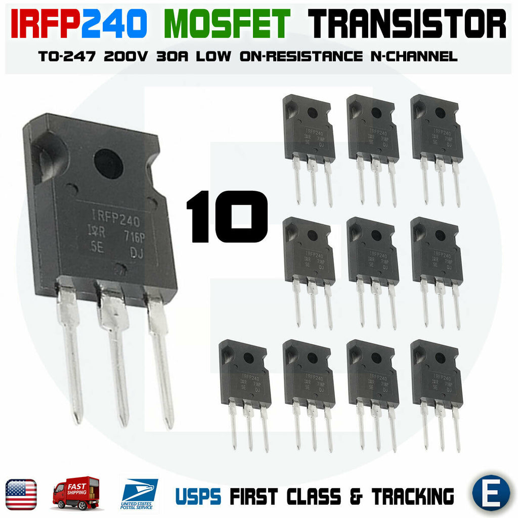 10pcs IRFP240 POWER MOSFET 20A 200V 150W N-Channel Transistor IRF240 - eElectronicParts
