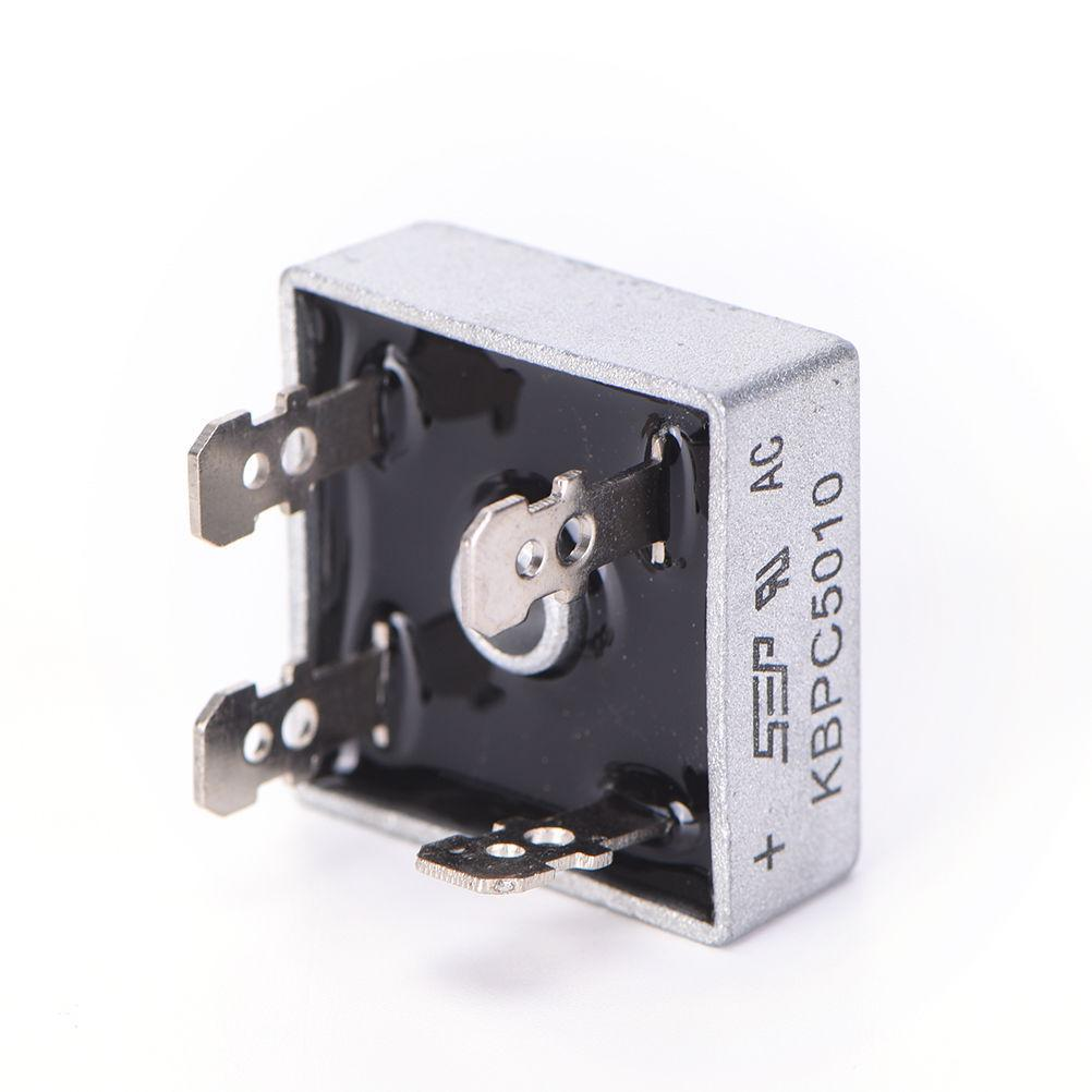 2pcs KBPC5010 Diode Bridge Rectifier Single Phase Metal Case 1000V 50A - eElectronicParts