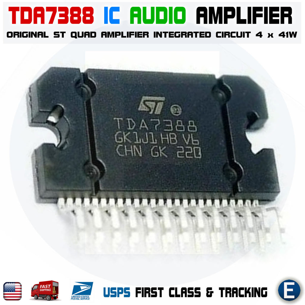 TDA7388 ORIGINAL ST Amplifier IC QUAD replace TDA7381 4x41W Car Audio - eElectronicParts