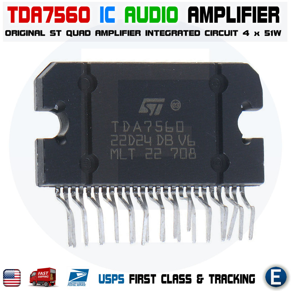 TDA7560 Original New Integrated Circuit TDA-7560 Quad Bridge Car Radio Amplifier - eElectronicParts