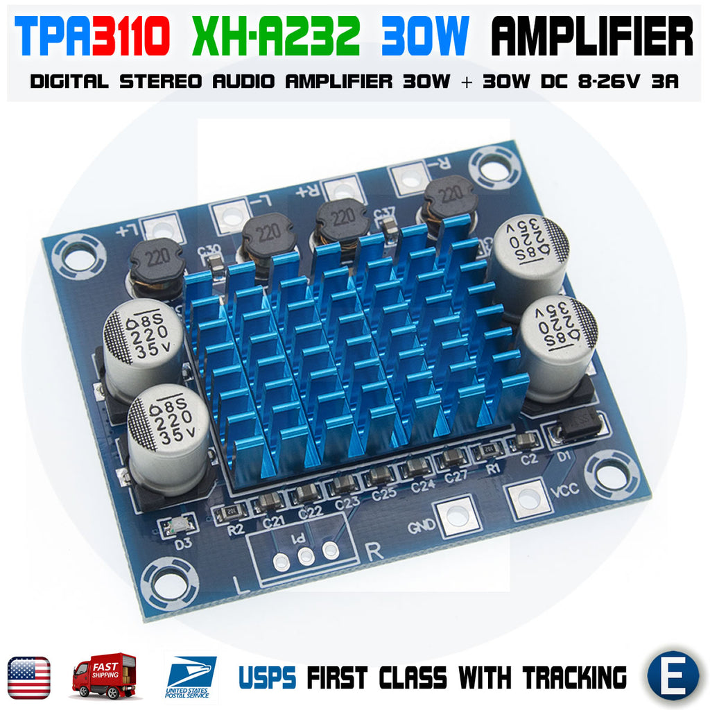 TPA3110 XH-A232 30W Digital Audio Stereo Amplifier Module Board Dual Channel - eElectronicParts