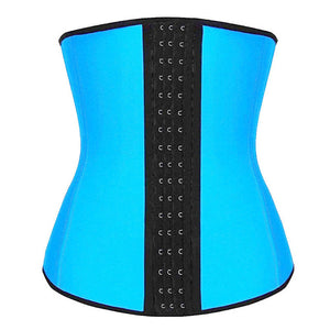 dropshipping 2019 New Women Fat Burning Shapewear S-ports Corset Latex Rubber Clincher Corset Trainer Belt Underbust Body Shaper
