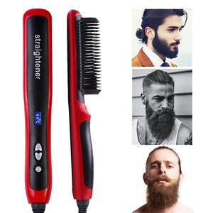 Beard Straightener Straightening Comb Quick Brush For Men Mini Damp Bart Beard Comb Men Beard Straightener Escova De Cabel