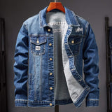 XIU LUO Mens Denim Jacket Spring Fashion Men Trendy Ripped Denim Jacket Mens Outwear Jeans Jacket Male Cowboy Coats Clothing 3XL