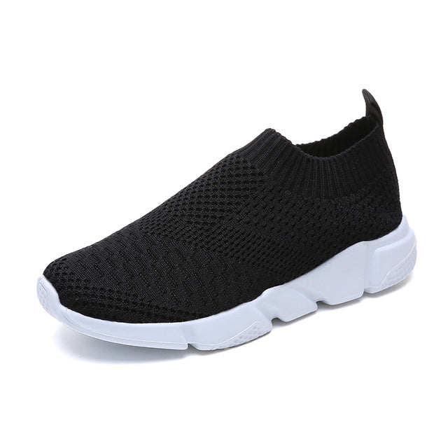 Rimocy plus size breathable air mesh sneakers women 2019 spring summer slip on platform knitting flats soft walking shoes woman