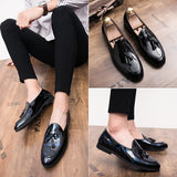2019 New Men's British Casual Leather Shoes  Low Shoes Loafers Moccasins Men Flats Pointed Toe Breathable Shoes