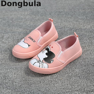 Spring New Kids Shoes For Girl Cartoon Graffiti Canvas Shoes Children's Sneakers For Baby Casual Toddler Comfortable Sport Shoes