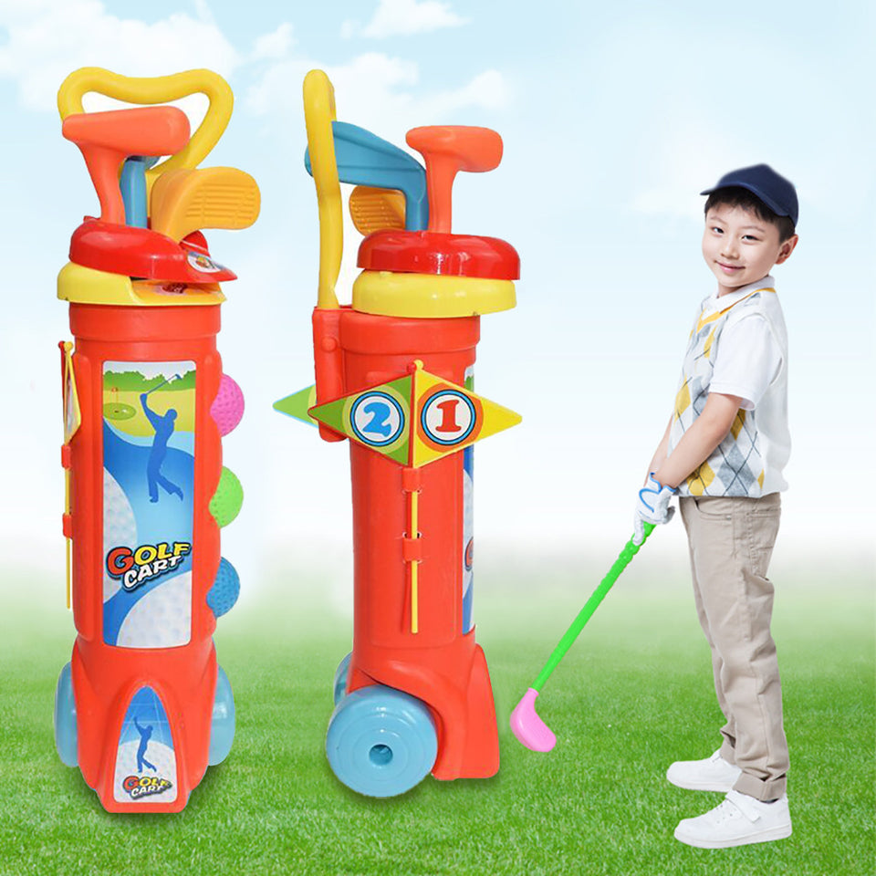 1 Set Outdoor Children Golf Club Toys Kids Gift Golf Ball Game Plastic Mini Golf Sports for Baby Develop Ability Educational Toy