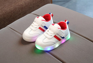 LED lights baby casual toddler shoes boys and girls sports