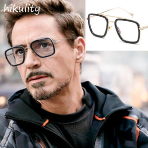 89221 Infinity War Tony Stark Clear Glasses for Men Vintage Rectangle Eyewear Frame Super Hero Iron Man Unique Eyeglasses Male
