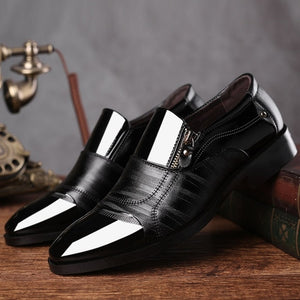 Men Formal Shoes Winter Men Dress Shoes Brand Men Leather Shoes Men Classic Business Gentleman Plush Plus Big Size 38-47 Dec4