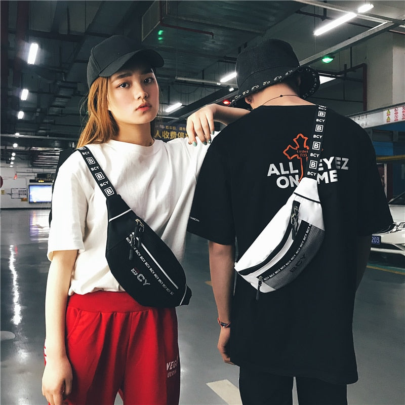 HTNBO Unisex Waist Packs Waist Bag Fanny Pack Purse Chest Fanny Pack Travel Cashier Belt Hip-hop Rock Boys Girl Bag 2018