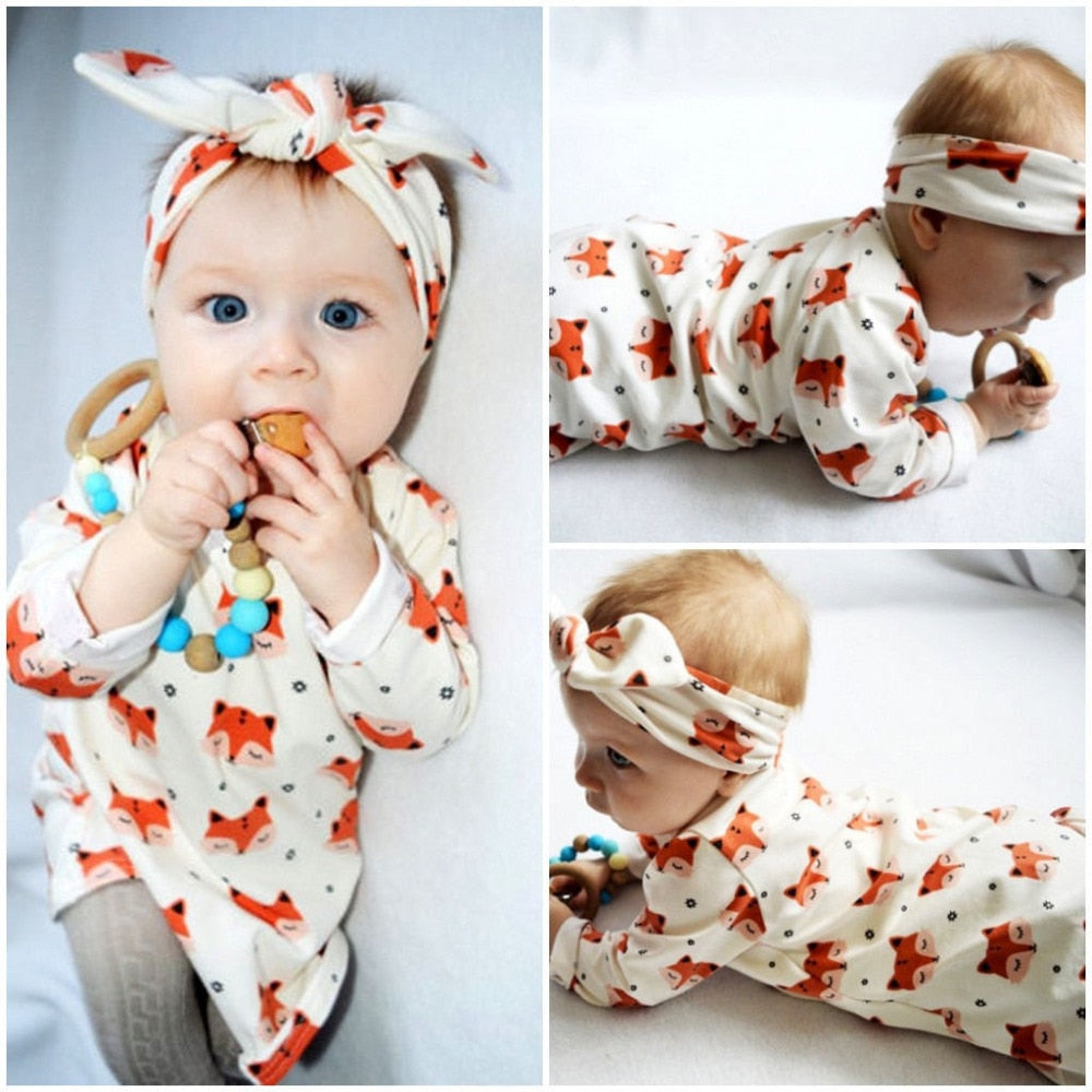 Fashion newborn baby girl clothes long sleeve