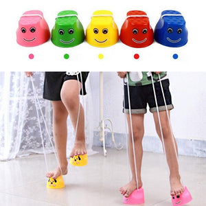 1 Pair Walk Jumping Stilts Toy With Wing Balance Shoes Children Sports Funny Gadgets Amusement Kids Outdoor Game