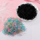 200/1000PCS Cute Girls Colourful Ring Disposable Elastic Hair Bands Ponytail Holder Rubber Band Scrunchies Kids Hair Accessories