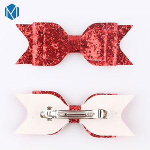 M MISM 1pc Big Glitter Hair Bow For Women Girls Birthday Party Hairpins Children Batrettes Hair Clips Kids Hair Accessories