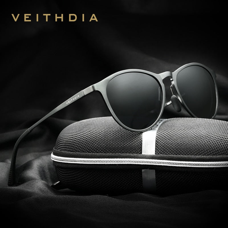 VEITHDIA Vintage Retro Brand Designer Original Box Sunglasses Men/Women Male Sun Glasses gafas oculos de sol masculino 6625