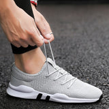 Weweya Lightweight Casual Shoes Men Fly Weave Quality Sneakers Men Breathable Tenis Lace Up Men Shoes Outdoor Walking Footwear