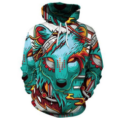 Image of The Green Elite Wolf Hoodie