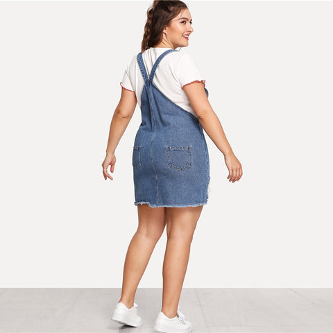 Straps Denim Dress