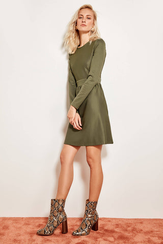 Waist Dress Khaki Advanced Knitting