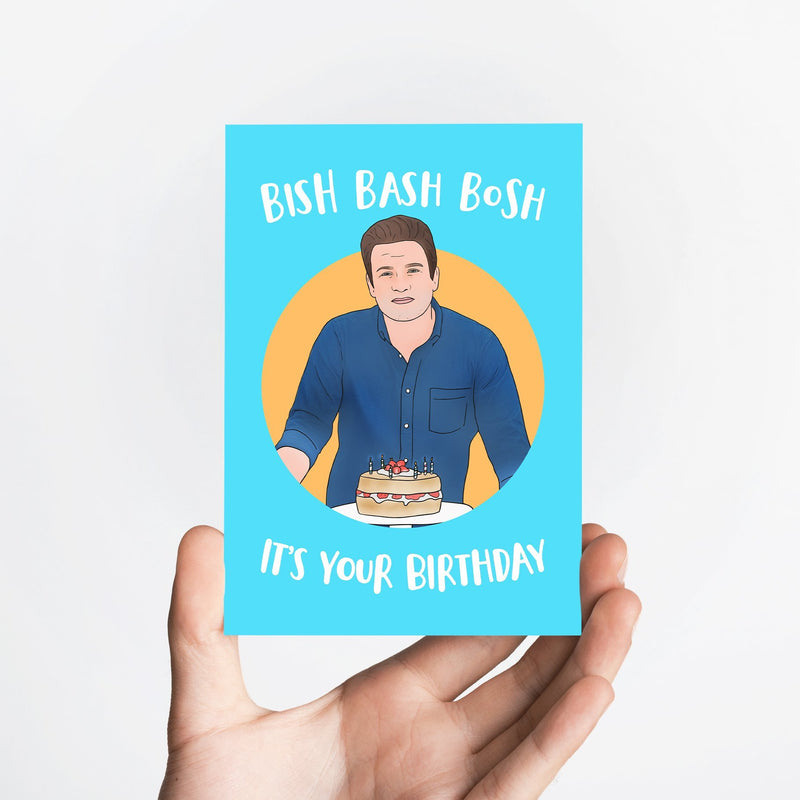 Bish Bash Birthday Card Native 21 Greetings Card