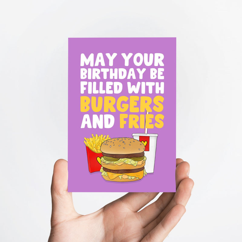 Burgers and Fries Card Native 21 Greetings Card