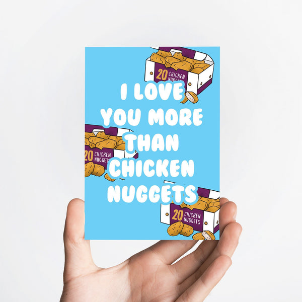 Chicken Nugget Love Card Native 21 Greetings Card