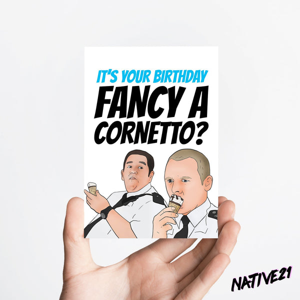 Cornetto Card Native 21 Greetings Card