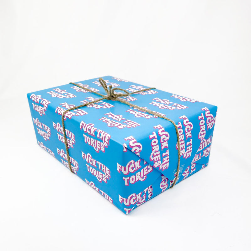 F*ck The Tories Gift Wrap Native 21 Gift Wrap